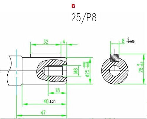 TG02021 Motor hidr/áulico de repuesto para Danfoss OMR serie 250 cc G1//2 NPT puertos eje 25 mm brida de montaje de 2 pernos