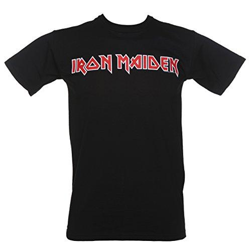 Mens Black Iron Maiden Logo T Shirt