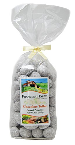 Fiddyment Farms Chocolate Toffee Covered Pistachio Kernels 8 Oz