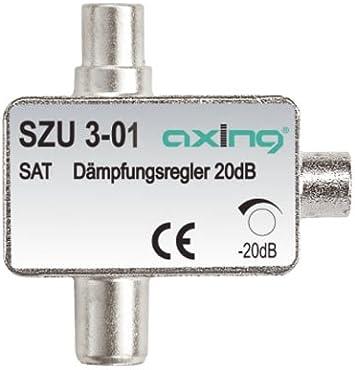 0,5-20 dB Axing SZU 3-01 SAT-D/ämpfungsregler IEC-Anschluss
