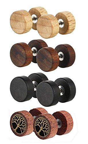 wood earrings - 1