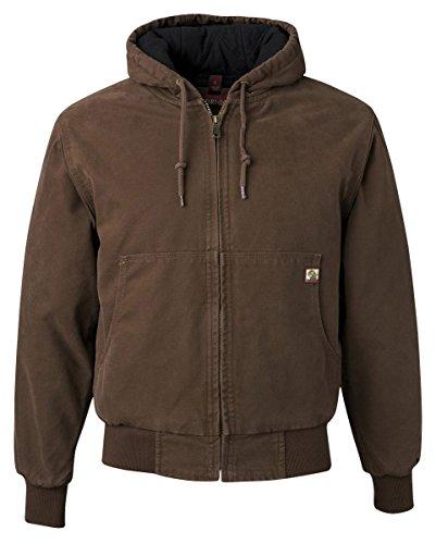 DRI Duck Men's 5020 Cheyenne Hooded Work Jacket, Tobacco, Large (Jackets Mens Canvas)