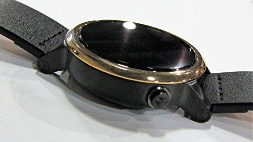 Motorola MOTO 360 2nd Gen 42mm Wi-Fi + Bluetooth Smartwatch - Silver Knurl Bezel - Silver Case - Black Leather Band (Certified Refurbished)