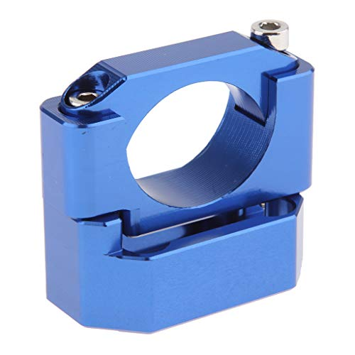 KESOTO Motorcycle Gauge Trim Gear Display Speed Indicator Bracket Mount Tool Fits 22-28.6mm - Blue: