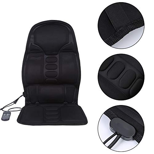 Massage Seat Cushion for Car, 7 Motor 2-in-1 Car Chair Seat Pad Cushion Mat Back Massage Home Car Office with Heat US Plug (#1)