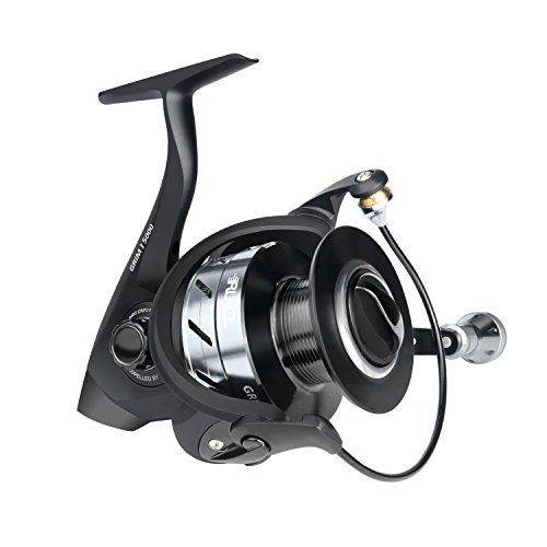 RUNCL Spinning Reel GRIMⅠ2000, Fishing Reel with Left/Right Interchangeable Collapsible Handle 5.1:1 Gear Ratio 10+1 Ball Bearings for Freshwater Saltwater Boat Fishing(Black)