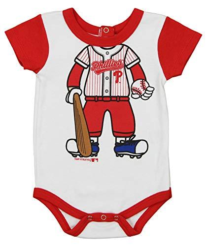 Outerstuff MLB Newborn and Infant's Baseball Creeper, Philadelphia Phillies 3-6 Months