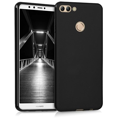 Matte Silicone (kwmobile Chic TPU Silicone Case for the Huawei Y9 (2018)/Enjoy 8 Plus in black matte)