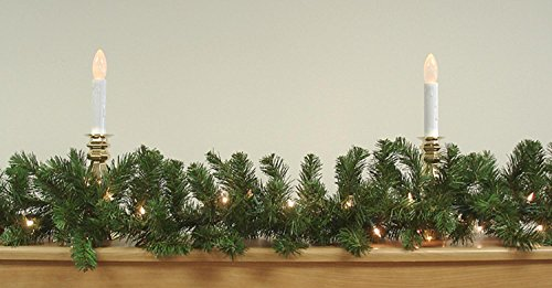 9ft x 10in Pre-Lit 2-Tone Pine Christmas Garland - Clear Lights (Large Image)