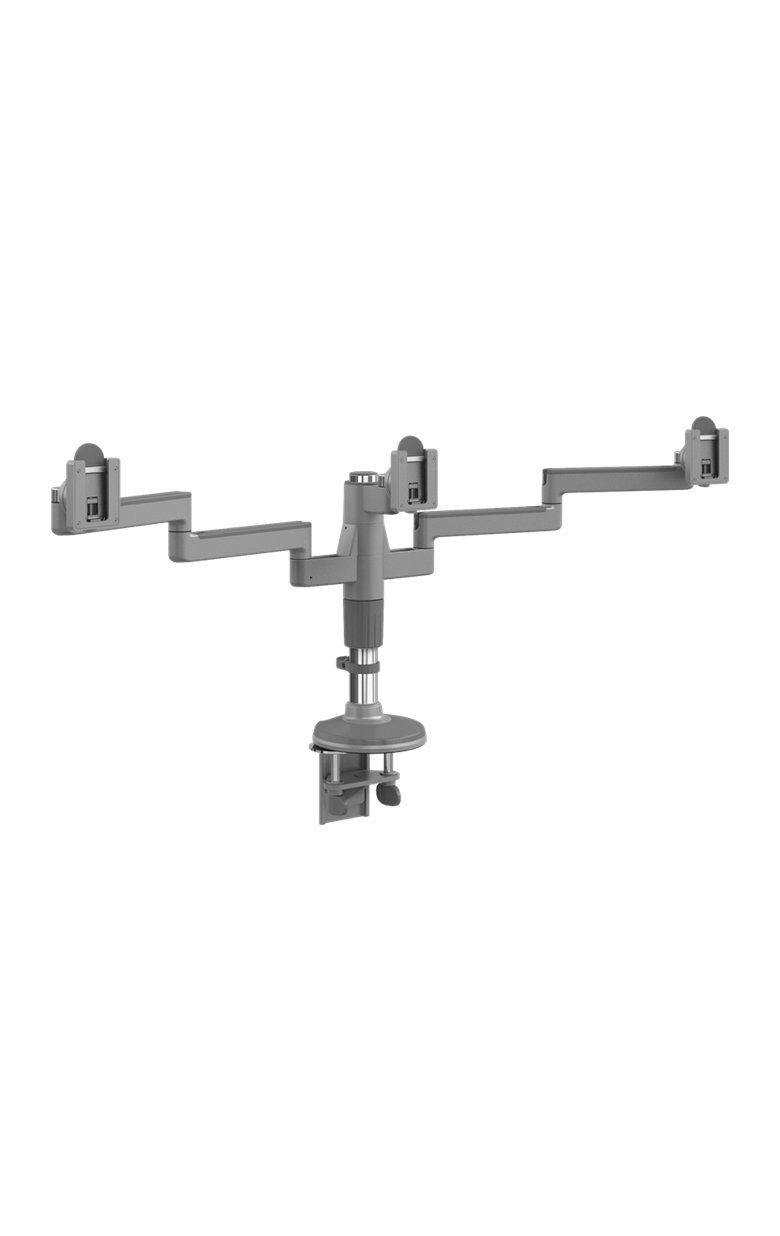 Humanscale M/Flex M2 Monitor Arms: Brackets for 3 Monitors