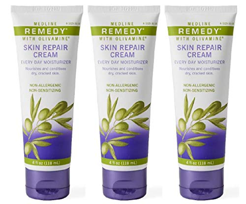 Medline Remedy Skin Repair Cream, 4 oz Tubes (3 Pack)