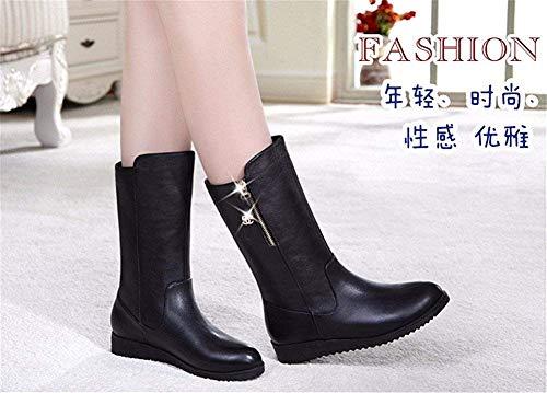 'lady' nero Shoes 35 Casual Warm Barrel S Zipper 38 Eu Ispessimento Stivali Middle Da Neve Eu Sed qAHtR6x
