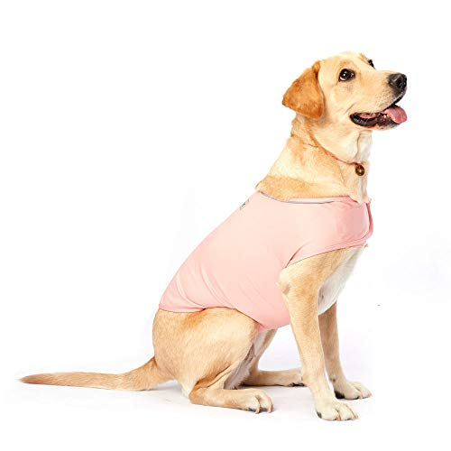 Furubaby Anxiety Dog Coat a Shirt Calm Down Dog Jacket for xs Small Medium Large XL Dogs | Solid Color Blue Gray Green Pink Thunder Dog Wrap ()