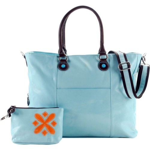 Urban Junket t.o.t.e. Laptop Tote 17″ (Slate Blue), Bags Central