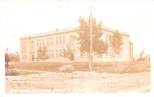 - High School Malta, Montana postcard
