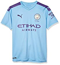 PUMA Men's Manchester City MCFC Shirt Replica with Sponsor Logo JR, Hombre Team Light Blue-Tillandsia Purple, S