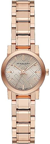 Burberry The City Petite Nude Dial Stainless Steel Quartz Ladies Watch BU9228