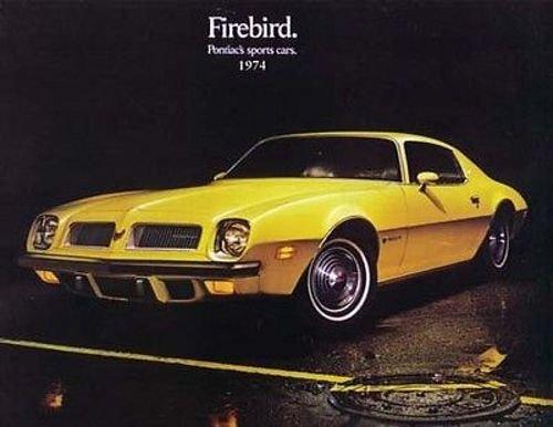 1974-PONTIAC FIREBIRD, TRANS AM, FORMULA 350 400 455 & ESPRIT BEAUTIFUL DEALERS SALES BROCHURE - ADVERTISMENT - - 1974 Trans Am