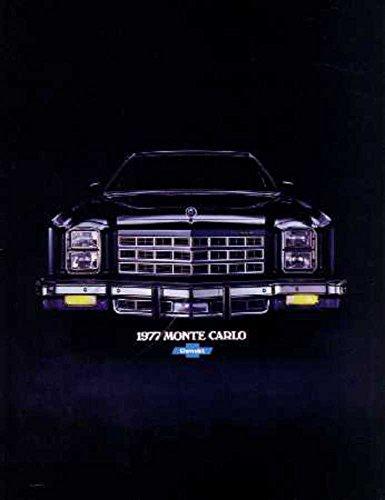 1977 Chevrolet Monte Carlo Sales Brochure Literature Book Options Specification