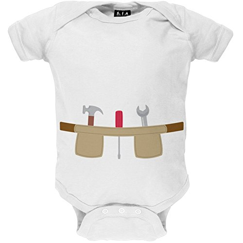 [Workman Tool Belt Costume Baby One Piece - 9-12 months] (Tool Belt Costume)