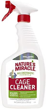 Nature's Miracle Cage Cleaner 24 fl oz, Small Animal Formula, Cleans And Deodorizes Small Animal Cages