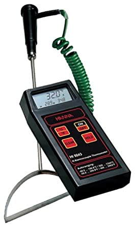 Hanna Instruments HI 9044 Microprocessor Based K Thermocouple Thermometer, with Special Probe