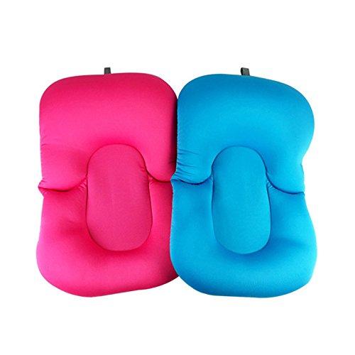 Miss.AJ Baby Bathing Mat Soft Anti-slip Bath Cushion Bathtub Shower Bed for Toddlers Infant