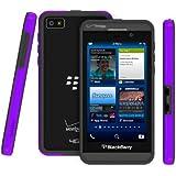 Poetic Borderline Bumper Case for RIM Blackbery Z10 Smartphone (AT&T, T-Mobile, Sprint, Verizon) Purple/Gray (3 Year Manufacturer Warranty From Poetic)