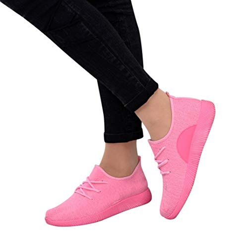 19c8271f5be3 Gyoume Women Sports Shoes Ankle Boots Slip On Shoes Sports Shoes Candy  Color Student Net Shoe