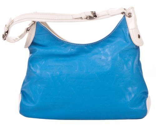 Enrico Coveri Schultertasche blau/weiß YY8385BL/WH tt1ifE5b