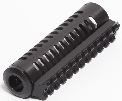 LongShot Black Anodized Aluminum Straight-Vented 4-1/8'' Integrated Picatinny Rail for Hi-Point 995TS by LongShot