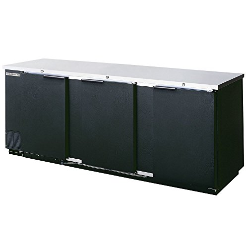 Beverage Air BB94F-1-B Three-Section Refrigerated Food Rated Back Bar Storage Cabinet 94