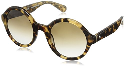 Havana Honey Honeys (Kate Spade Women's Khrista/s Round Sunglasses, Havana Honey Glitter/Brown Gradient, 52 mm)