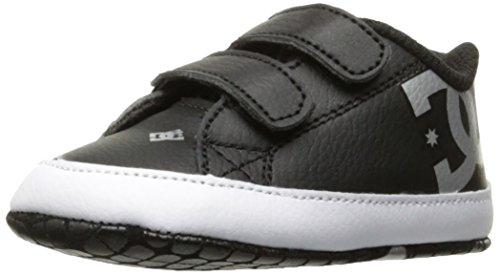 DC Youth Kids' Court Graffik Shoes, Black/Silver, 1 M US Infant