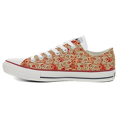 Converse All Star Customized - zapatos personalizados (Producto Artesano) Orange Skull