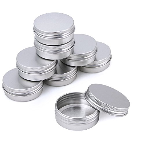 Kbnian Aluminum Tins Round Lip Balm Container with Screw Thr