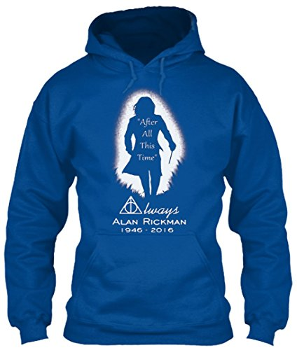After all this time - Always printing T-Shirt Hoodie (L,Royal) - Slytherin Quidditch Uniform