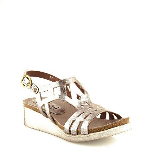 Felmini - Zapatos para Mujer - Enamorarse com Dora 8986 - Sandalias de cuña - Cuero Genuino - Varios colores Varios colores