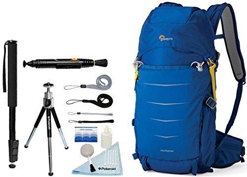 Lowepro Photo Sport BP 200 AW II Waterproof Photo Backpack (Blue) + Accessory Bundle For Canon, Nikon, Sony, Olympus, Pentax Digital SLR Cameras - Lowepro Fast Pack 200 Digital Slr Backpack