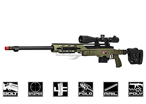Well MB4411G Bolt Action Spring Sniper Rifle (OD) - Airsoft Well
