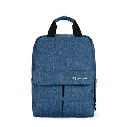 Forme los hombros de la bolsa de la momia, bolso de múltiples funciones grande del bebé de la capacidad, sale bolso de la madre, parte posterior del hombro ( Color : Rojo ) Azul