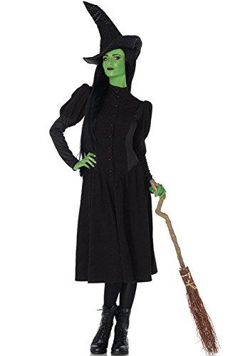 Leg Avenue Women's Wicked 2 Piece Elphaba Witch Costume, Black, Large -