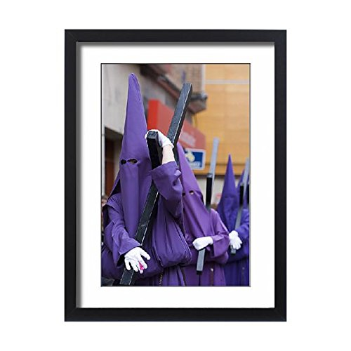 Framed 24x18 Print of Easter. Holly Friday parade. Murcia. Spain (13944515) by Media Storehouse