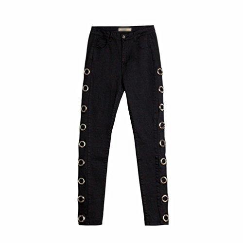 Vaqueros Mezclilla up Pantalones Color Negro Push Flacos Pantalones Lvguang Profundo Mujer Leggings Jeans Ordinario wv0tTRPq