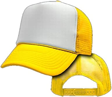 plain white baseball caps uk two tone trucker mesh hat adjustable yellow cheap fitted cap