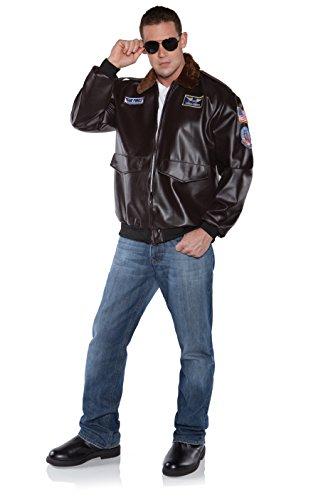 Top Gun Pilot Costumes (Underwraps Costumes Men's Pilot Costume - Flying High, Brown, XX-Large)