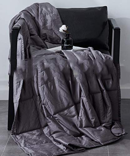 LZHDAR Manta Ponderada, Algodón Gris 4100 * 150Cm con Diseño De Cremallera Oculta Aumenta La Serotonina Y La Melatonina Transpirable Durable: Amazon.es: ...