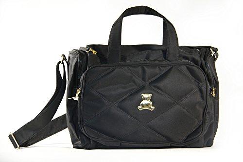 BL BABY - Elegance Collec. - SM - Crossbody Bag - Themal - Black - 5x17x12'' by BL BABY