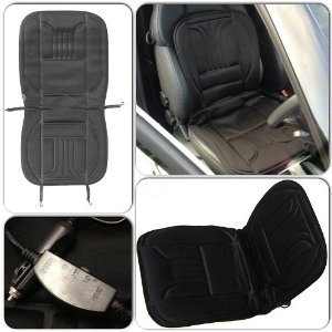 Winter Essential Interior Black Front Comfy Warm Heated Seat Cover Cushion for Citroen C3 2nd gen / DS3 (2009 Onwards) - Heats in Seconds Motionperformance Essentials