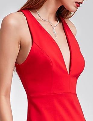 Ever Pretty Sexy Cocktail Dress with Deep V Neck 05857